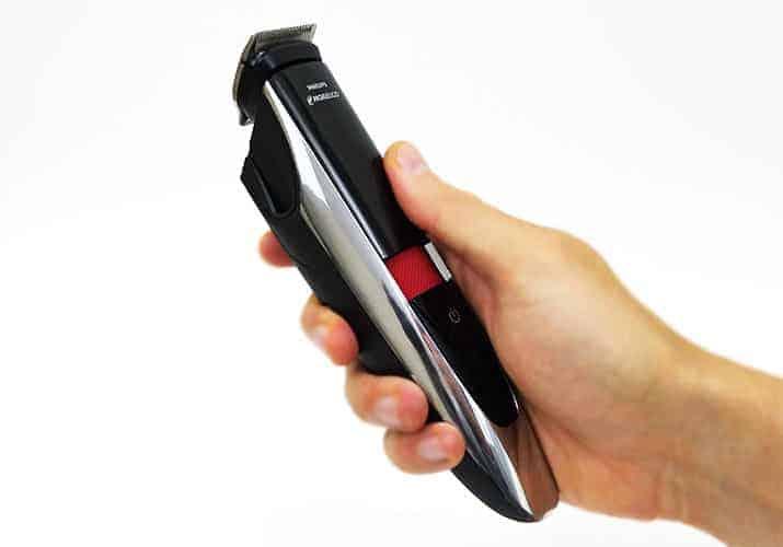 Philips Norelco Series 9000 9100 Beard Trimmer held in hand