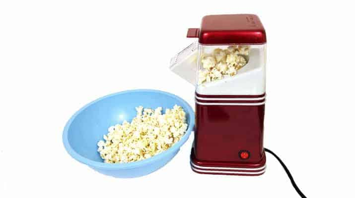 Nostalgia Retro Series Hot Air Popcorn Maker RHP310 being tested