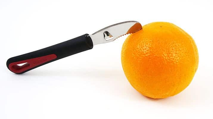 Westmark German stainless steel serrated orange peeler with channel knife