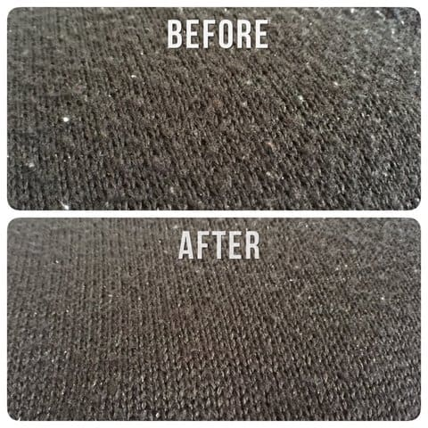 Lint before and after